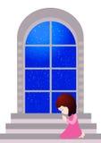 Härligt be för liten flicka royaltyfri illustrationer