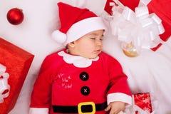Härligt behandla som ett barn Santa Claus Royaltyfria Foton