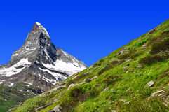 Matterhorn - schweiziska alps Royaltyfria Foton
