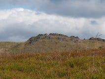 Härligt berghöstlandskap Bieszczady Fotografering för Bildbyråer