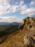 Härligt berghöstlandskap Bieszczady Arkivbild