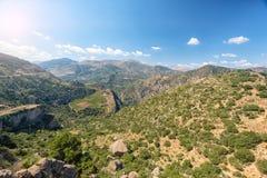 Härligt berglandskap av Grekland peloponnese fotografering för bildbyråer