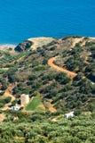 Härligt berglandskap av Kreta Arkivbilder