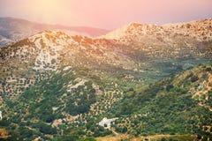 Härligt berglandskap av Kreta Royaltyfri Fotografi