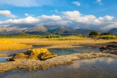 Härligt berglandskap av Kreta Arkivbild