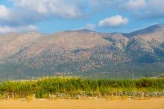 Härligt berglandskap av Kreta Arkivfoton