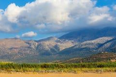 Härligt berglandskap av Kreta Royaltyfri Bild