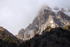 Härligt berglandskap från den Fleres dalen, nära det Brenner passerandet, Italien Arkivfoto