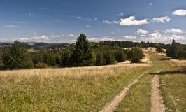 Härligt berglandskap i Javorniky berg Royaltyfria Foton