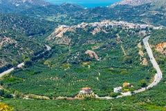 Härligt berglandskap, Kreta, Grekland Arkivbild