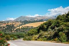 Härligt berglandskap, Kreta, Grekland Arkivbilder