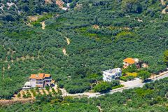 Härligt berglandskap, Kreta, Grekland Royaltyfri Foto