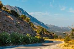 Härligt berglandskap, Kreta, Grekland Royaltyfria Foton