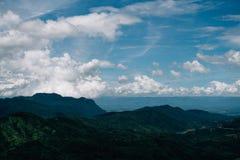Härligt berglandskap, med berget Royaltyfria Foton