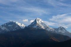 Härligt beskåda av Annapurna spänner, Himalayan berg, Nepal Arkivbild
