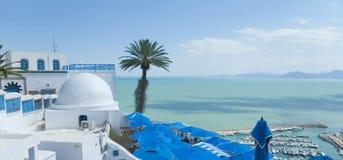 Sidi Bou sade royaltyfri fotografi