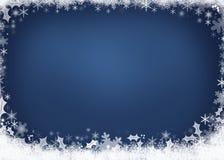 Härligt blått julbakgrundsbegrepp Royaltyfria Bilder