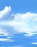 härligt blått vatten arkivbild