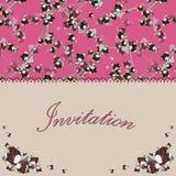 Härligt blom- inbjudankort med blommor Royaltyfria Bilder