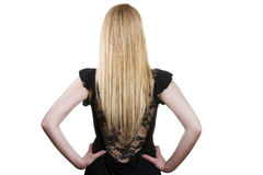 härligt blont hår long royaltyfri fotografi