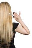 härligt blont hår long Royaltyfria Foton