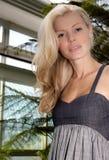 härligt blont kvinnabarn Royaltyfri Fotografi