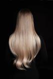 Härligt blont underbart hår Royaltyfri Fotografi
