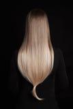 Härligt blont underbart hår Arkivbilder
