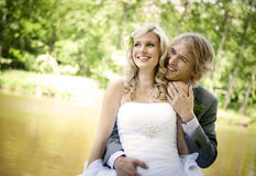 Härligt bröllop kopplar ihop Royaltyfria Foton