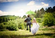Härligt bröllop kopplar ihop Royaltyfria Bilder