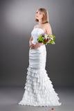 härligt brudkappabröllop Royaltyfri Fotografi