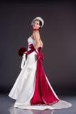 härligt brudklänningbröllop Royaltyfria Foton
