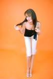 härligt brunettbarn Royaltyfria Bilder