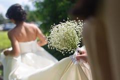 härligt bukettbröllop Arkivbilder