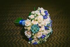 härligt bukettbröllop Arkivfoto