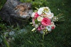 härligt bukettbröllop Royaltyfria Bilder
