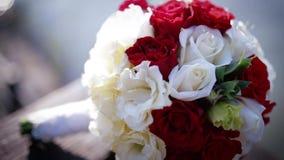 härligt bukettbröllop lager videofilmer