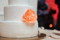 härligt cakebröllop royaltyfria bilder