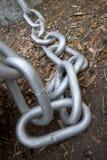 härligt chain dimensionellt diagram illustrationmetall tre mycket royaltyfri foto