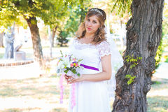härligt dagbröllop Fotografering för Bildbyråer