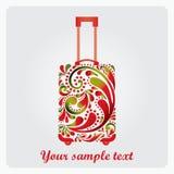Härligt dana resväskan för reser. royaltyfri illustrationer