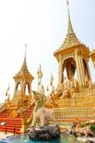 Härligt den kungliga guld- krematoriet för konungen Bhumibol Adulyadej på November 04, 2017 Arkivfoton