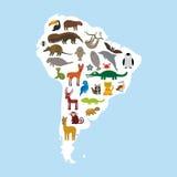 härligt dimensionellt diagram illustration södra tre för 3d Amerika mycket royaltyfri illustrationer