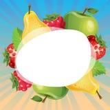 Härligt färgrikt fruktkorttema Arkivfoton
