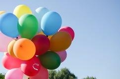 Härligt fång av ballonger Arkivfoto