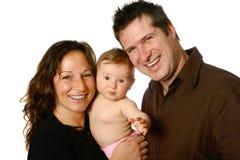 härligt familjbarn Fotografering för Bildbyråer