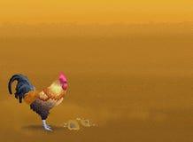Härligt fegt anseende på den bruna sanden med Copyspace royaltyfri illustrationer