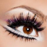 Härligt feminint öga Arkivfoto