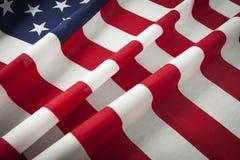 Härligt flödande amerikanska flagganabstrakt begrepp Royaltyfri Foto