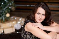 härligt flickabarn suddighet bakgrund jul min version för portföljtreevektor Fotografering för Bildbyråer